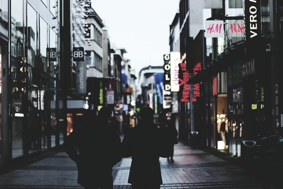 People, Walking, Shopping, Stores, Retail, Marketing
