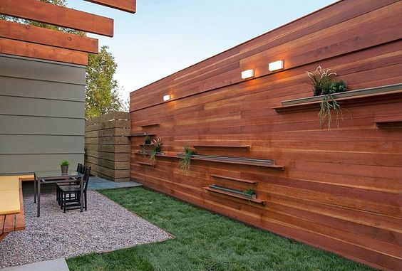 Image result for timber screening ideas